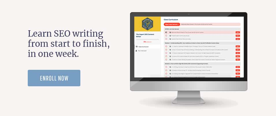 enroll in the expert SEO content writer course