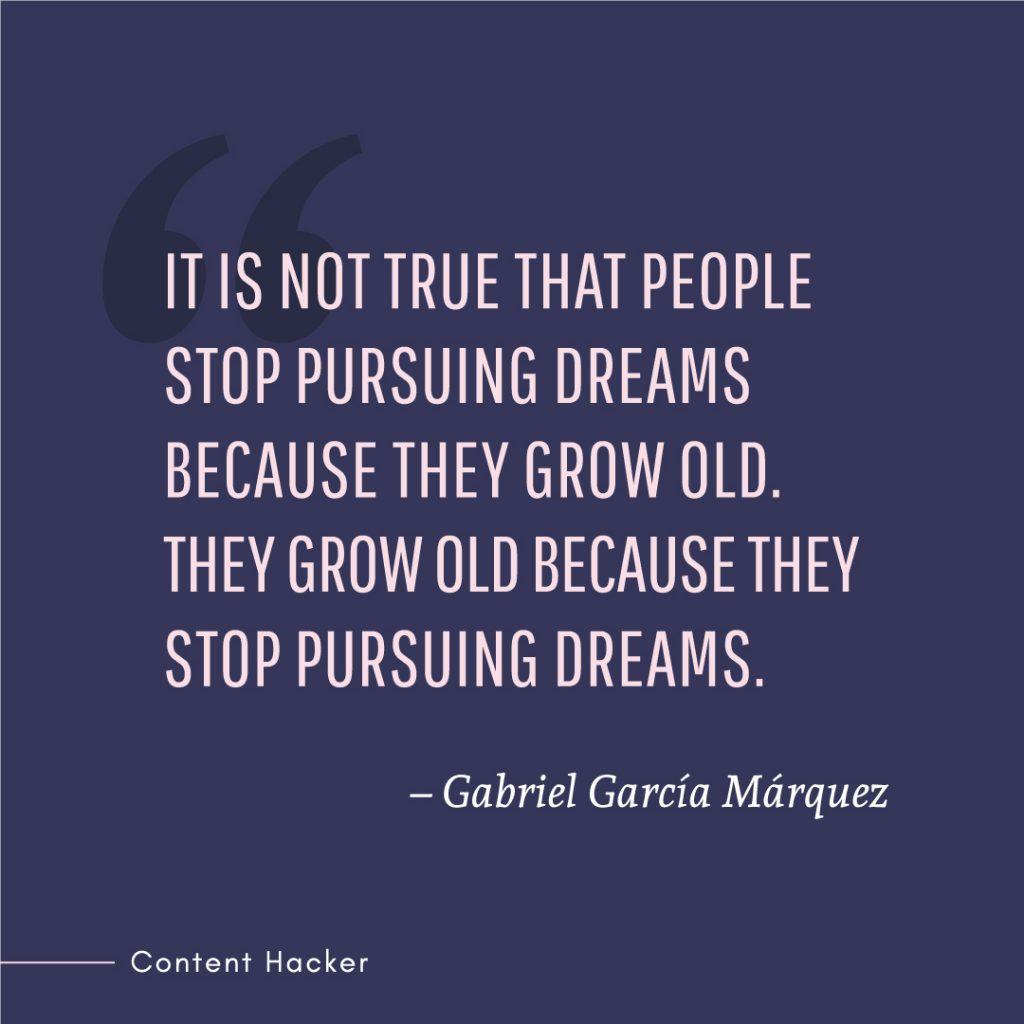 hustle quote gabriel marquez