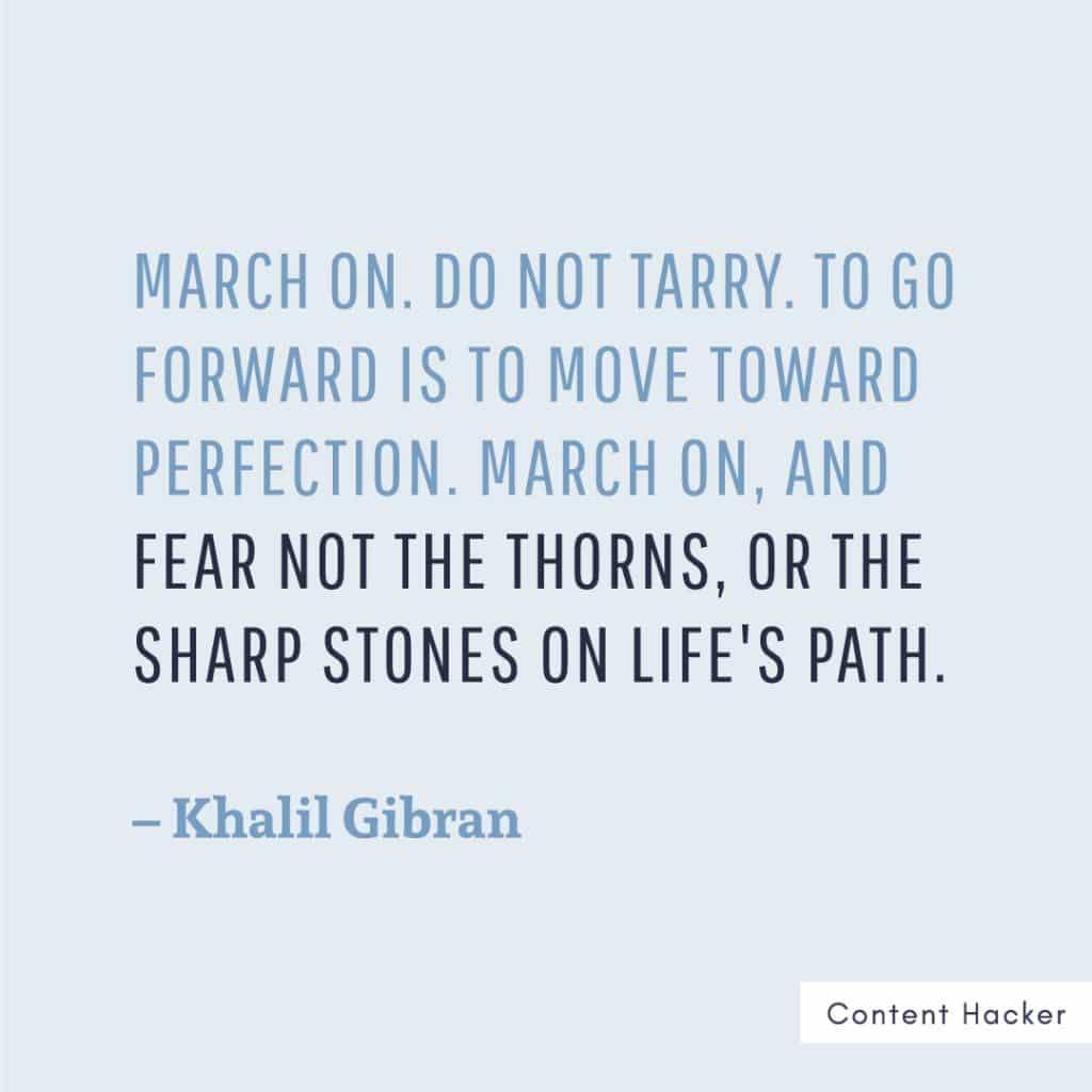 hustle quote khalil gibran