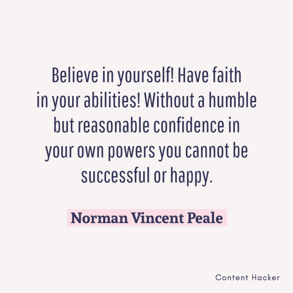 hustle quote norman vincent peale