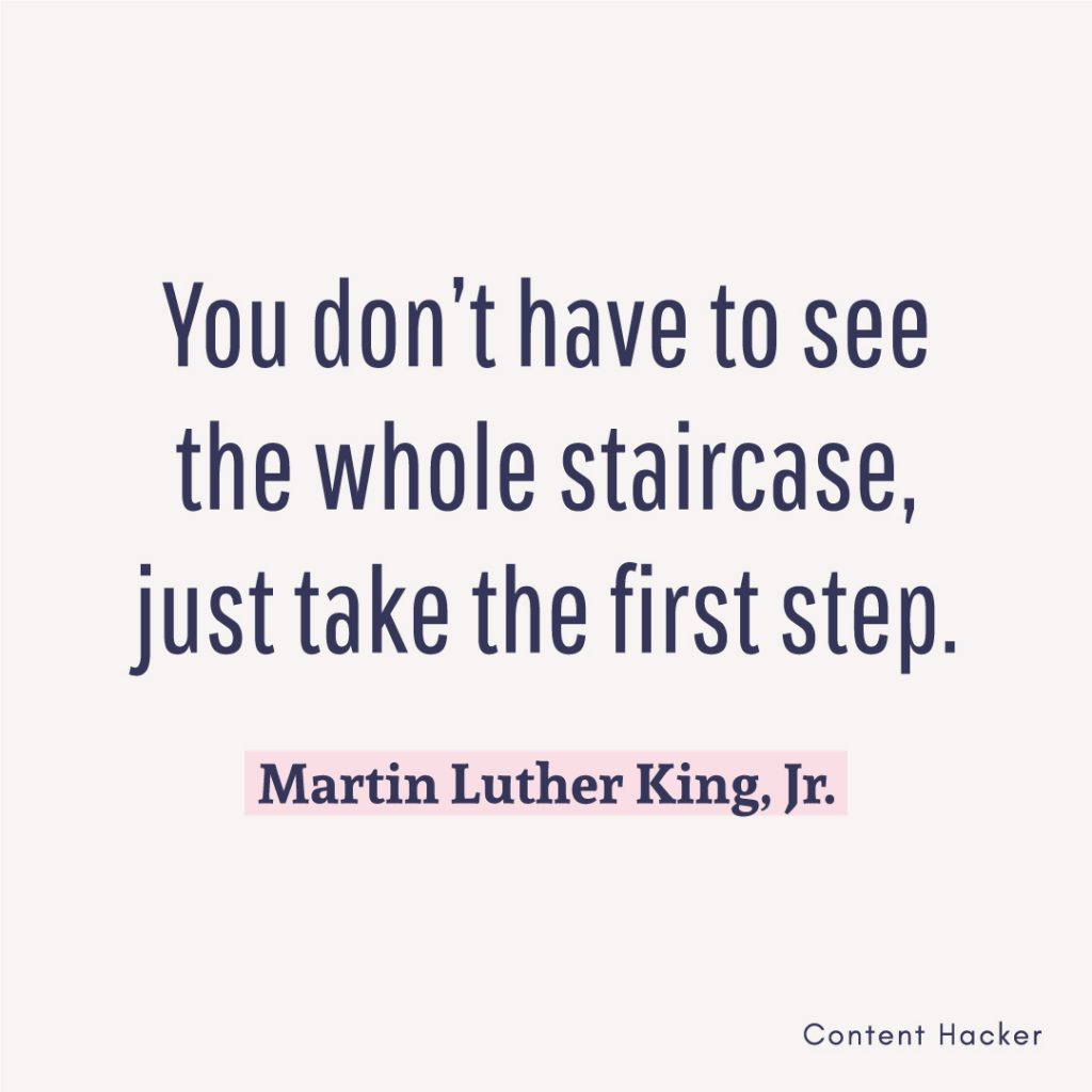 Hustle quotes Martin Luther King Jr