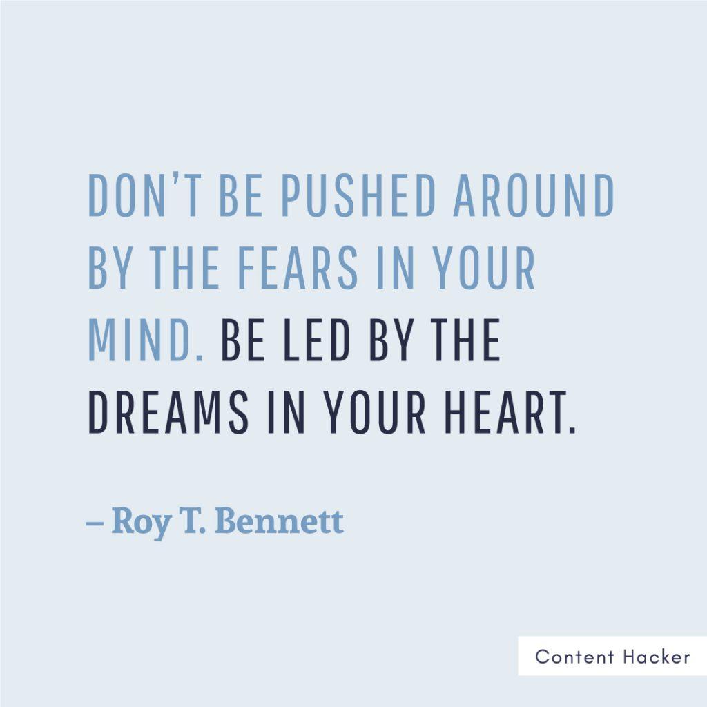 Hustle quotes Roy Bennett