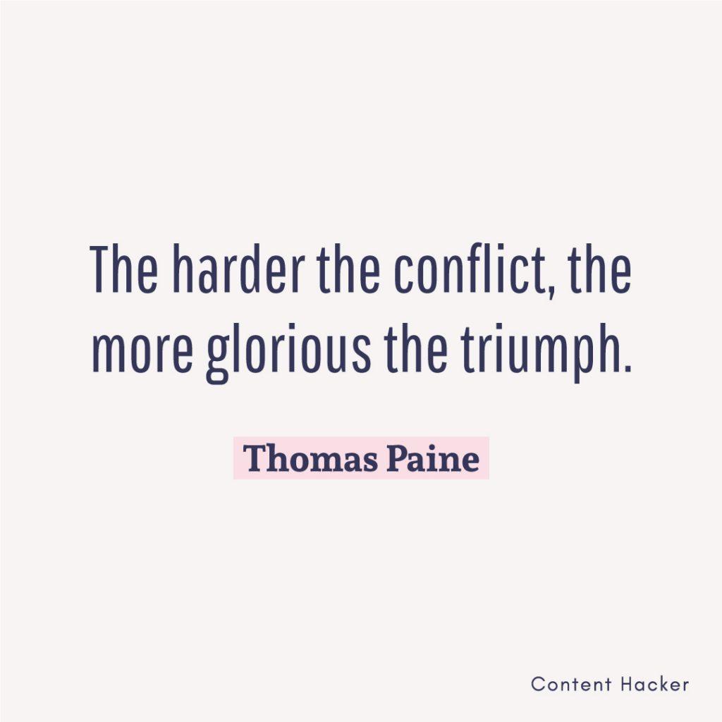 Hustle quotes Thomas Paine