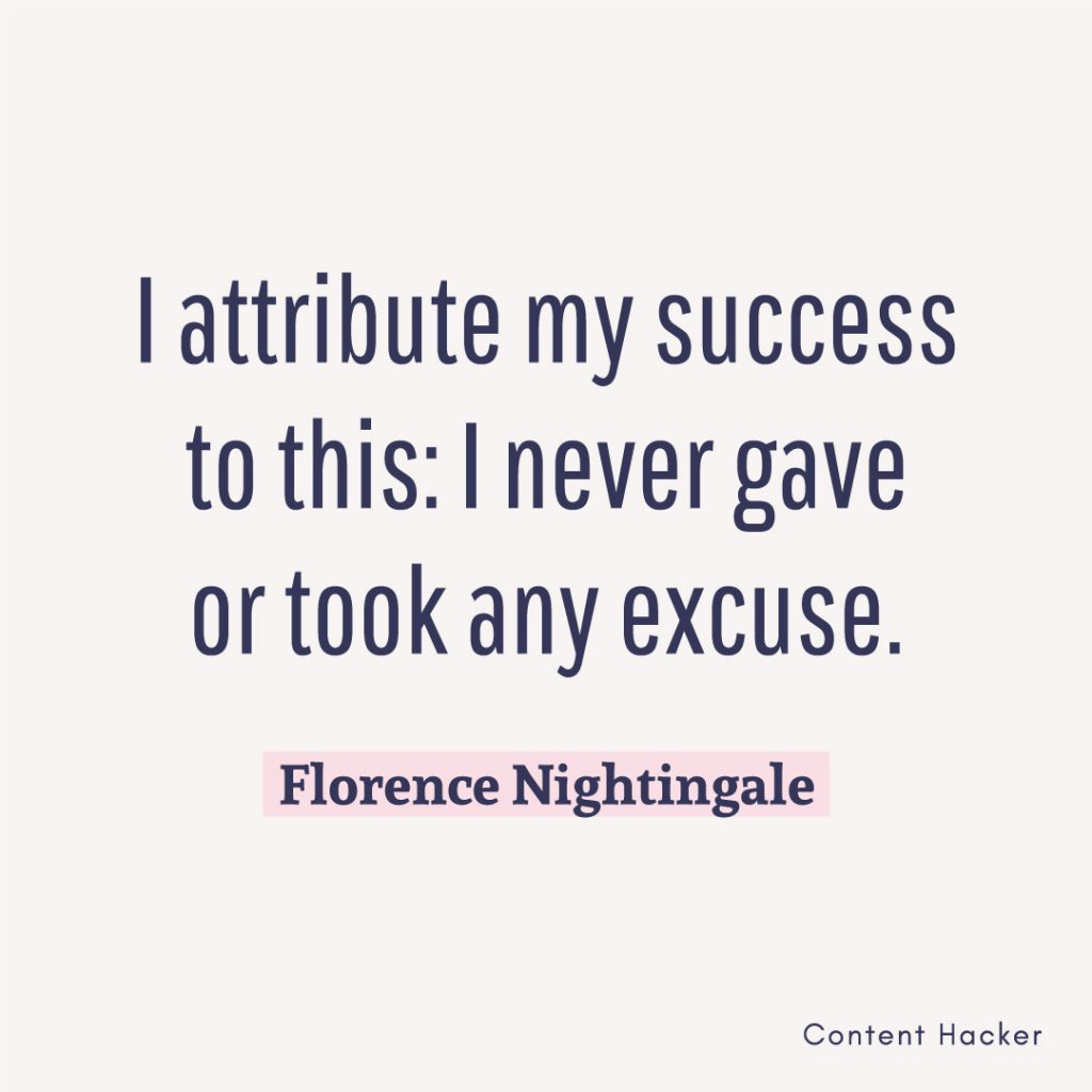 Hustle quotes Florence Nightingale
