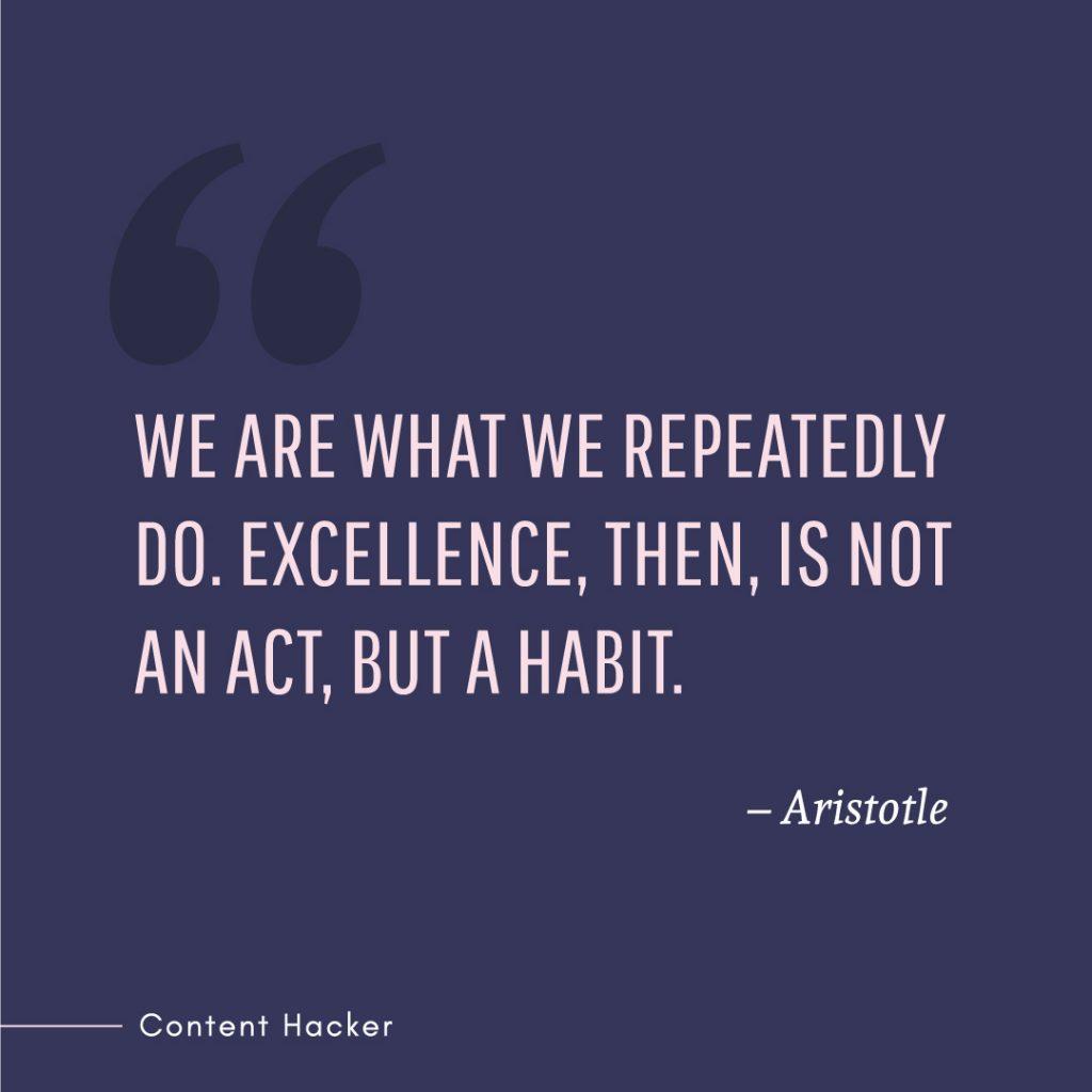 Hustle quotes Aristotle