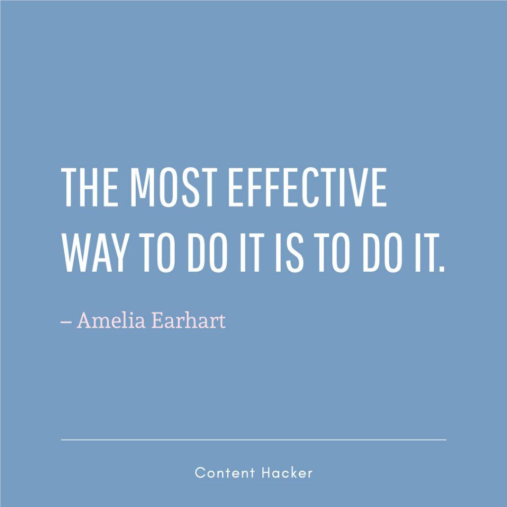 Hustle quotes Amelia Earhart