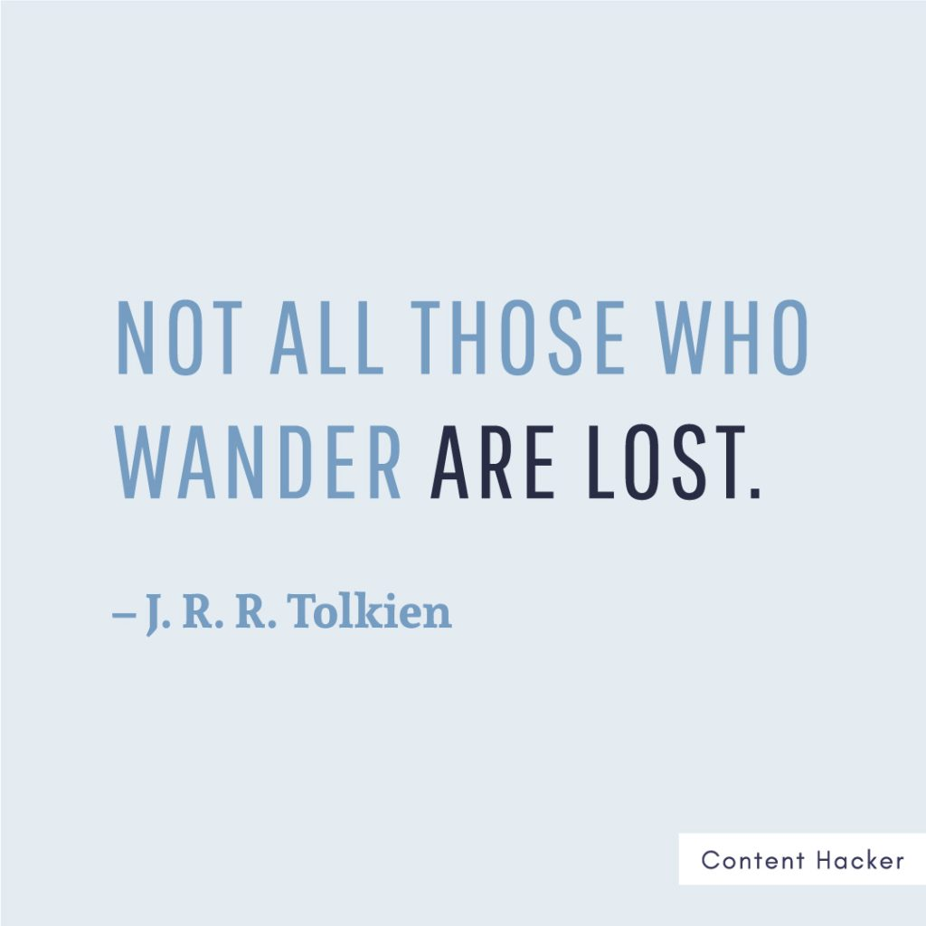 Hustle quotes J.R.R. Tolkien