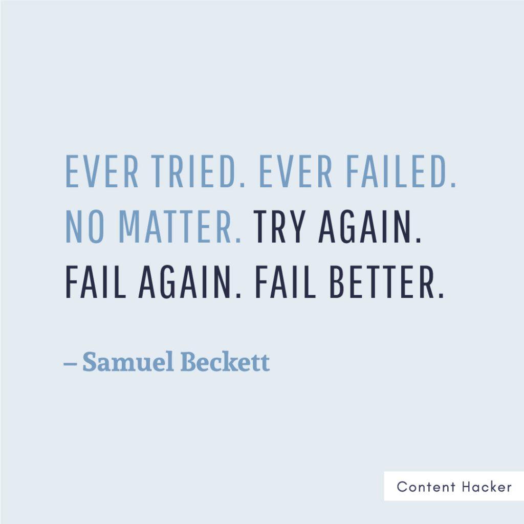 Hustle quotes Samuel Beckett
