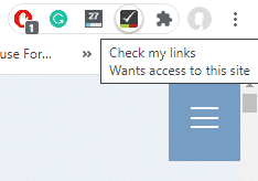 Check My Links wants access