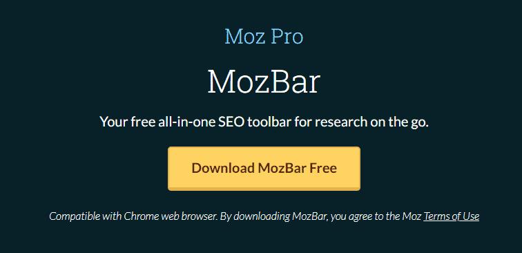 MozBar download page