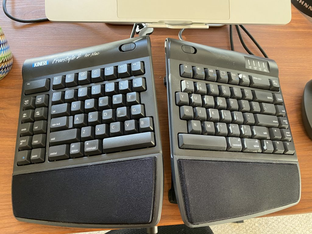 home office split keyboard