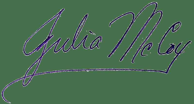 julia mccoy signature