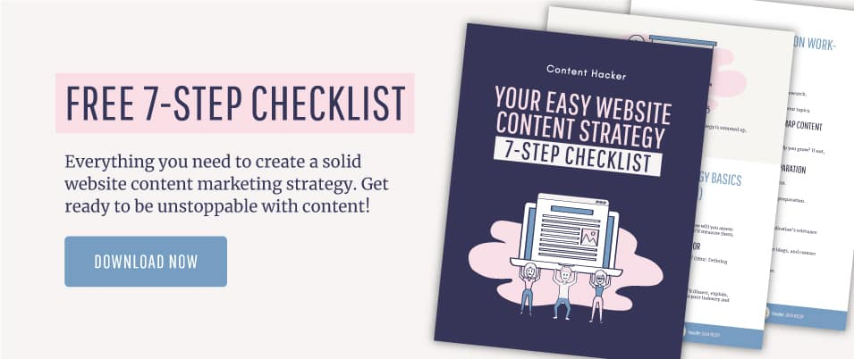 website content strategy checklist free guide