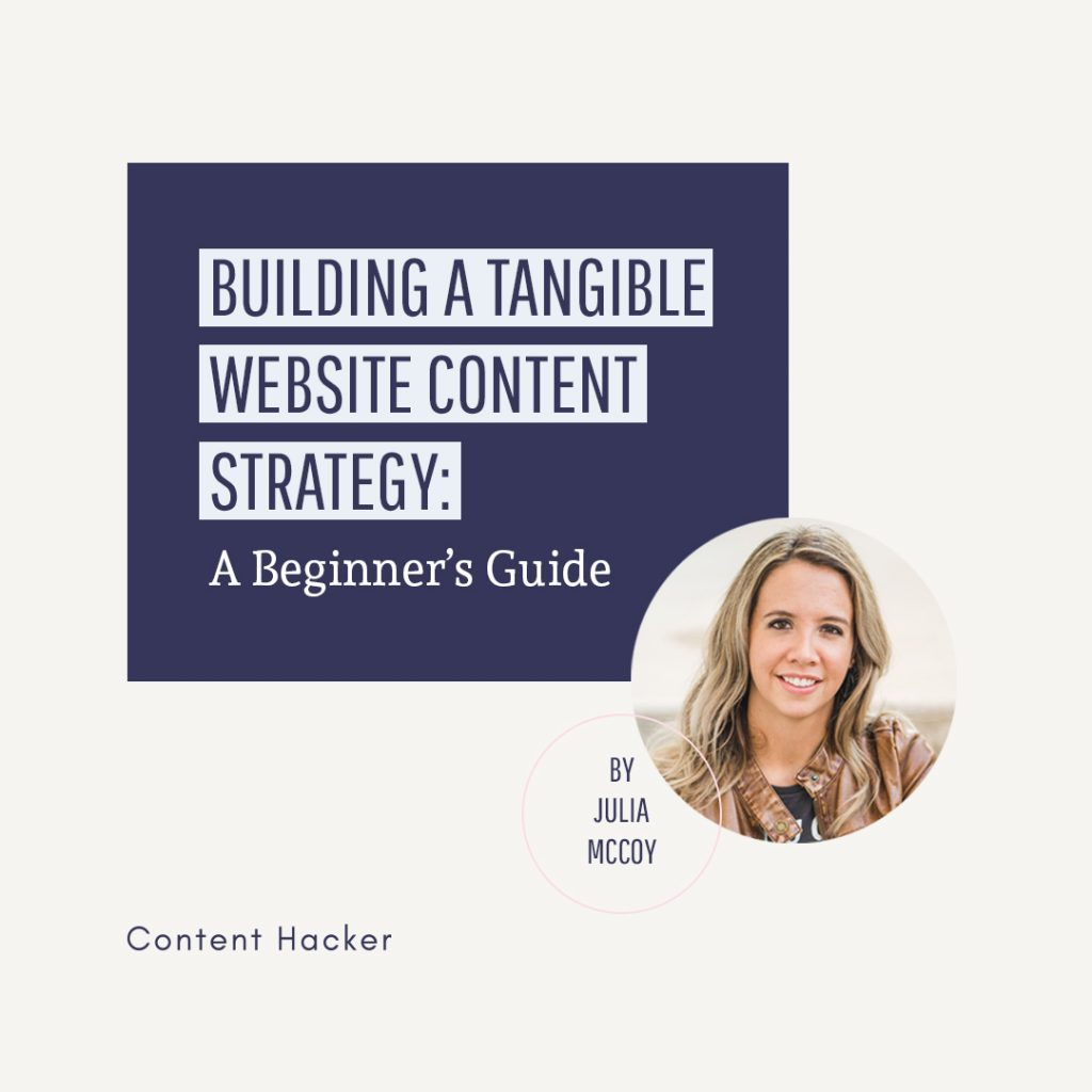 building a website content strategy