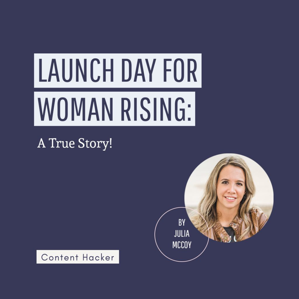 Launch day for Woman Rising: A True Story