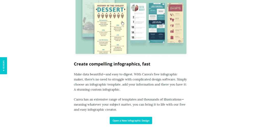Canva web page example
