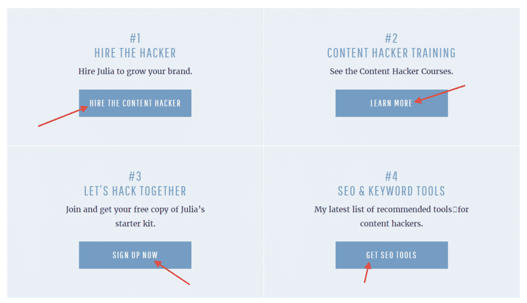 CTAs on Content Hacker