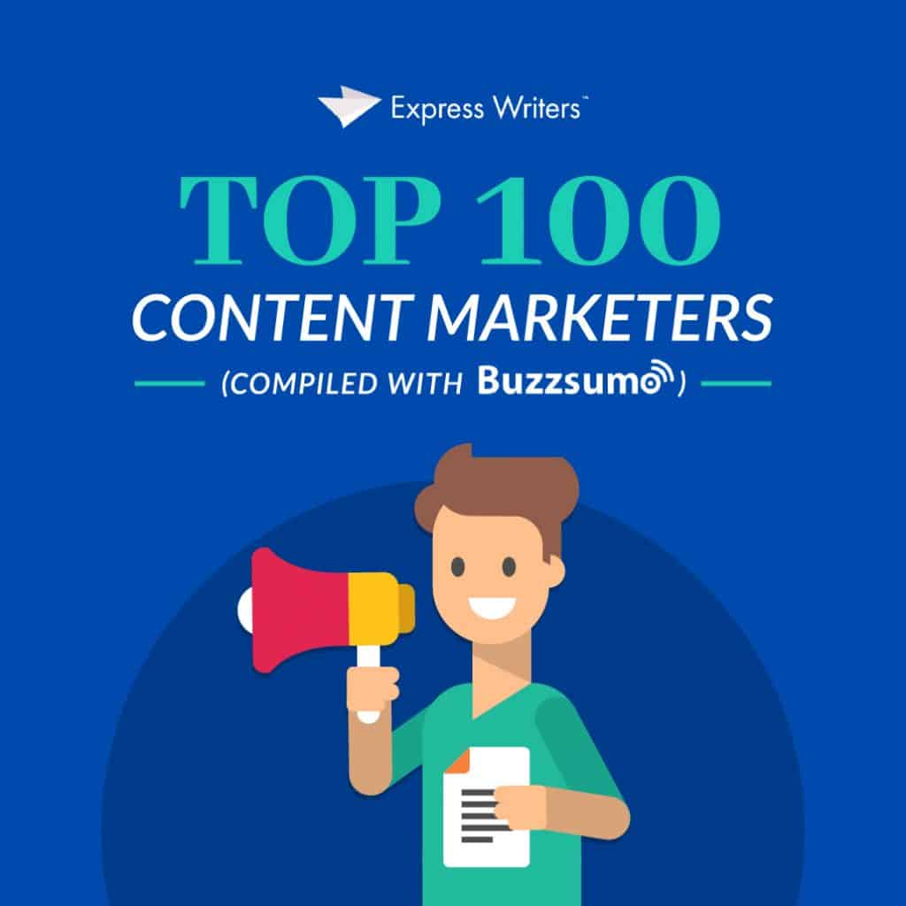 Top 100 content marketers lead magnet