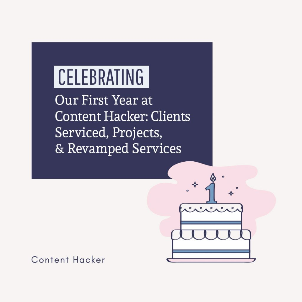 Celebrating our first year at Content Hacker