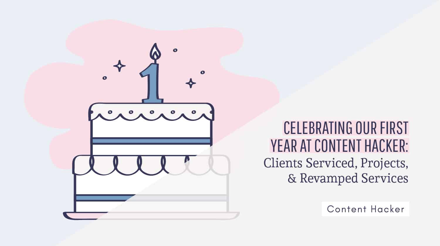 Celebrating year one at Content Hacker