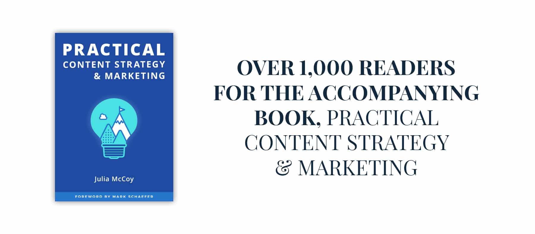 content strategy & marketing course sales page book image