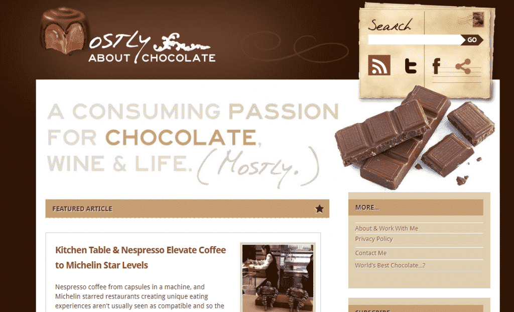 women in marketing - Judith Lewis of Mostly About Chocolate