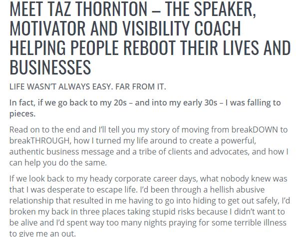 Taz Thornton women in marketing