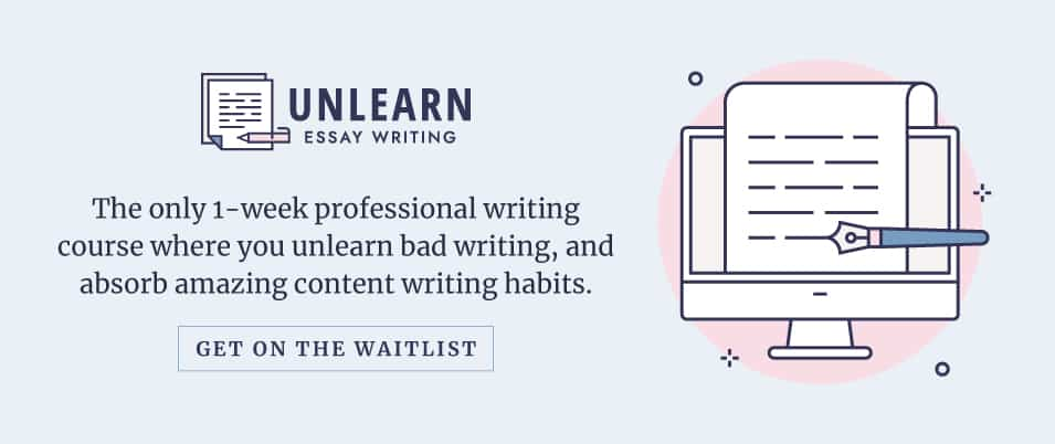 Unlearn Essay Writing - join the waitlist