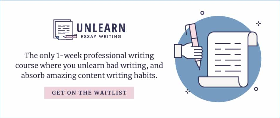 Join the waitlist for Unlearn Essay Writing