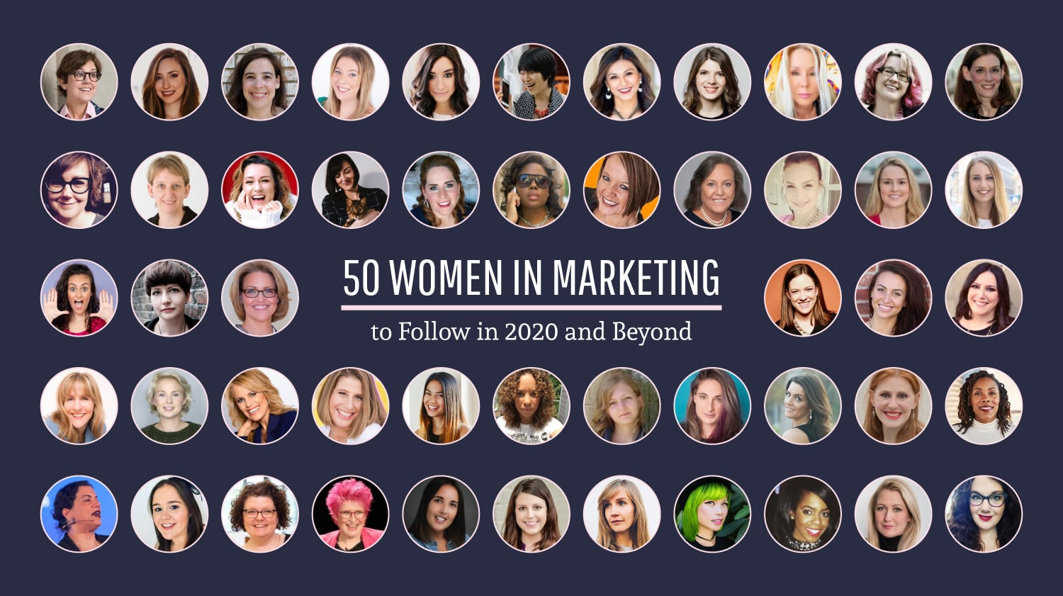 50 women in marketing to follow