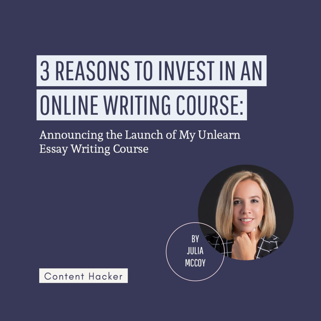 Invest in an online writing course