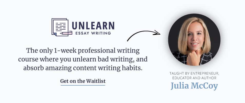 Get on the waitlist for Unlearn Essay Writing