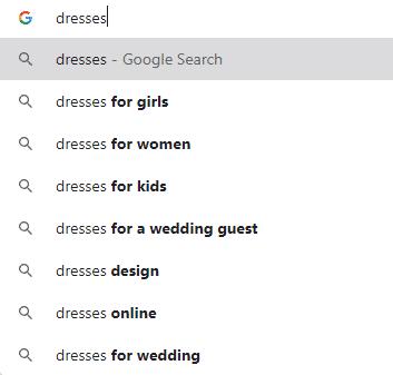 use Google suggestions for keyword researchor keyword
