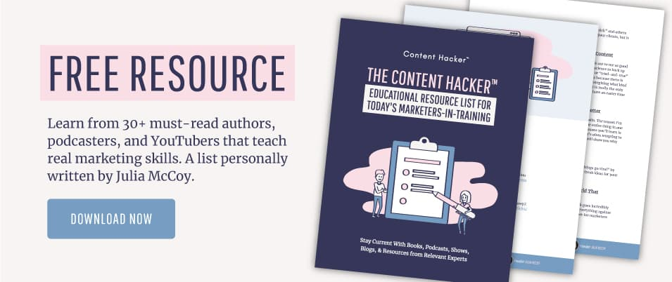 Download a free resource for Content Hackers