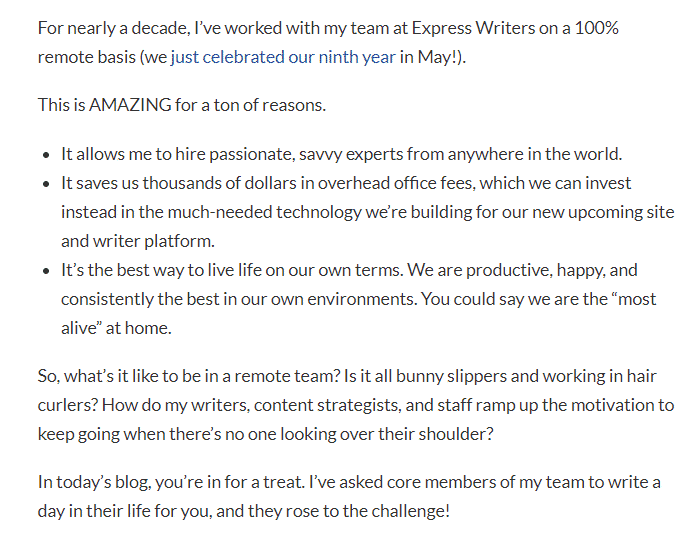 Express Writers content writing sample