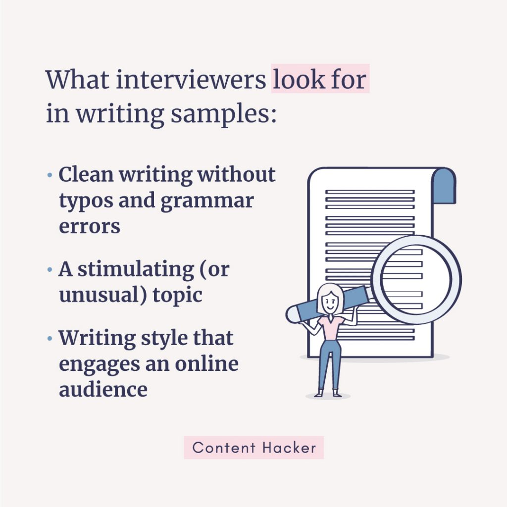 how to write content writing samples - what interviewers look for