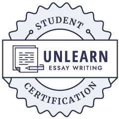 unlearn essay writing badge