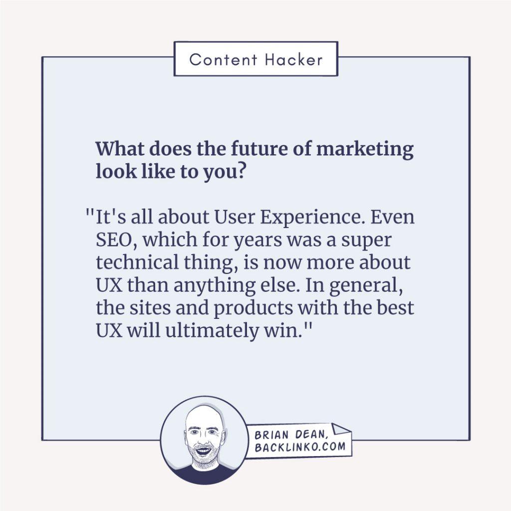 future of marketing brian dean