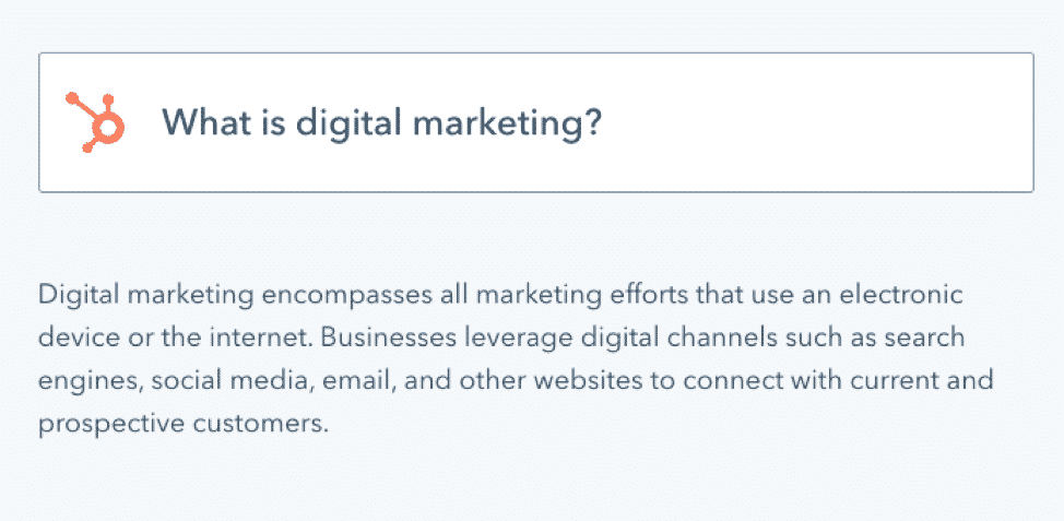 HubSpot what is digital marketing