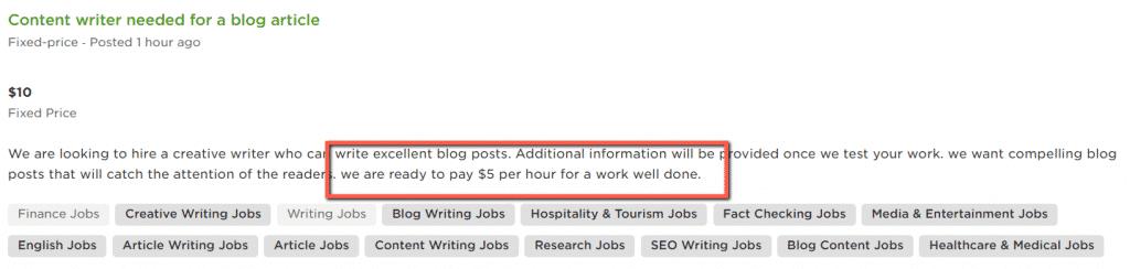 low-paying freelance writing jobs