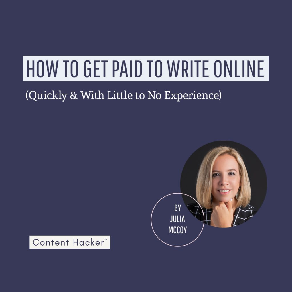 How to get paid to write online