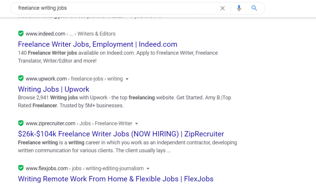 google freelance writing jobs
