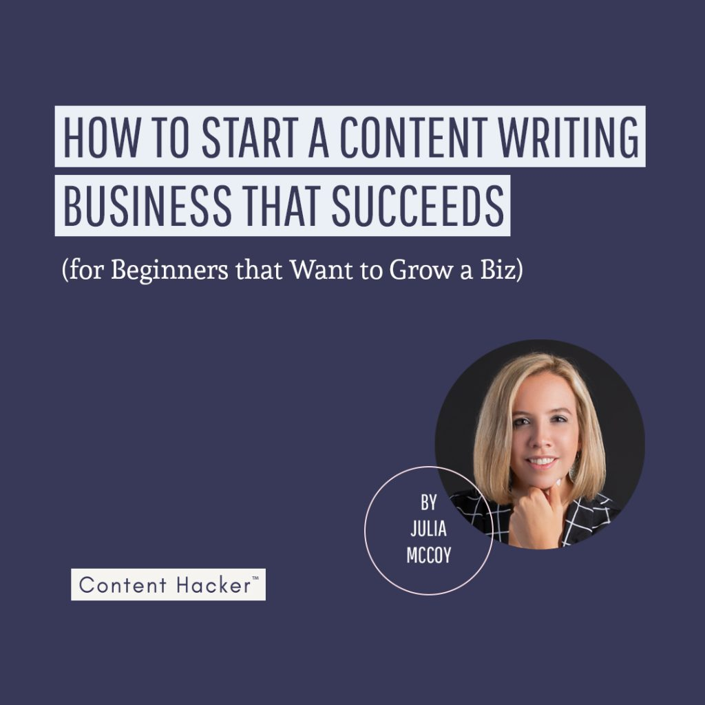 start a content writing business