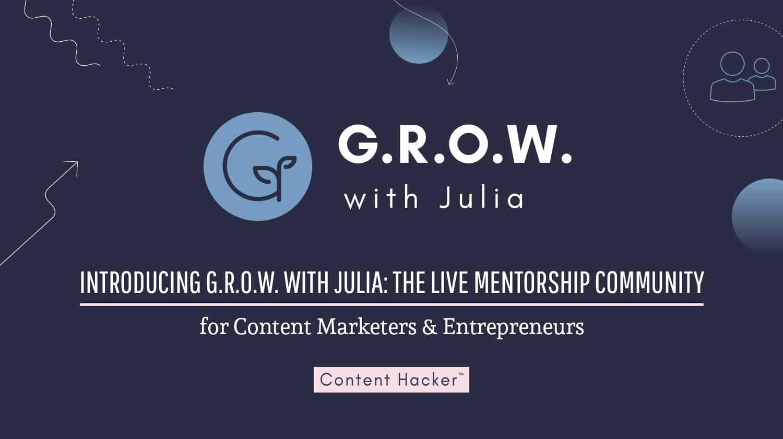 GROW with Julia