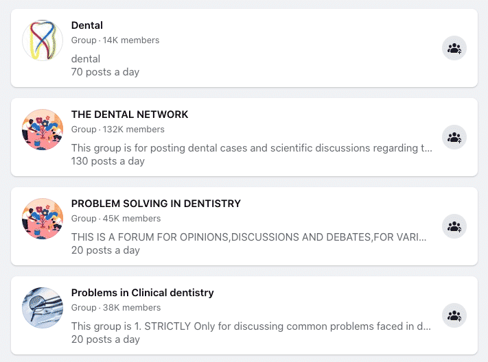 dentist Facebook groups