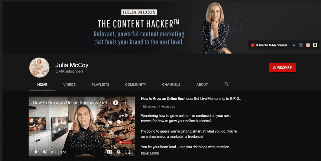 juliamccoy youtube