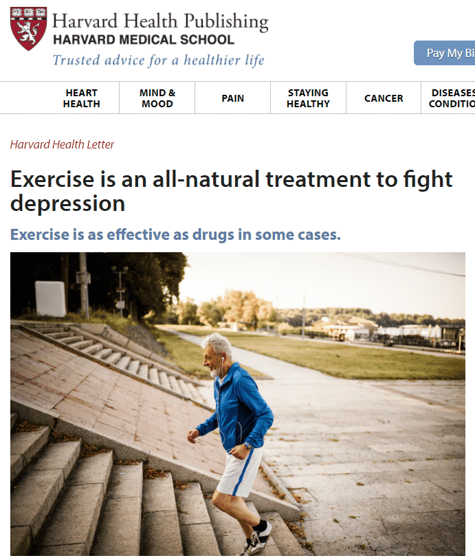 exercise naturally fights depression