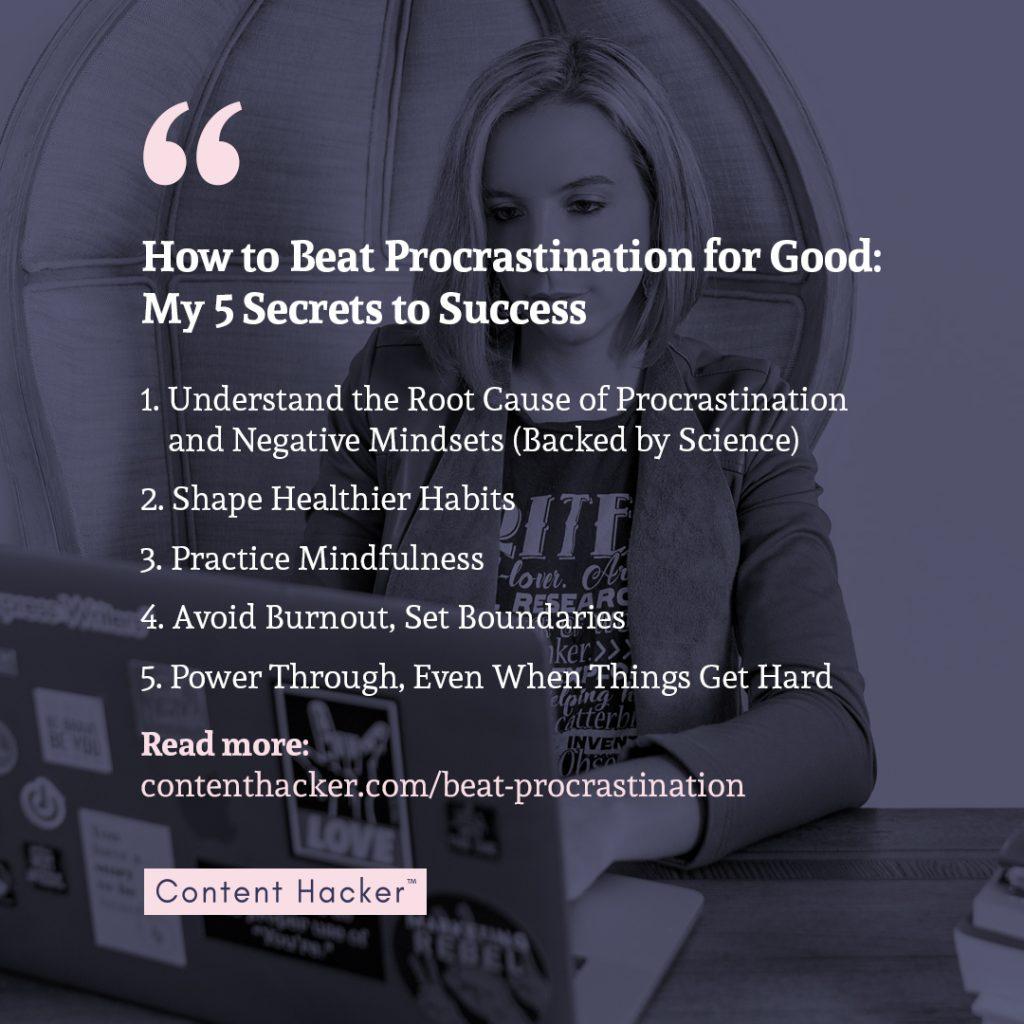how to beat procrastination - 5 steps