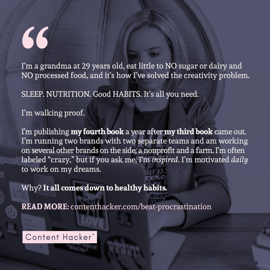 how to beat procrastination quote