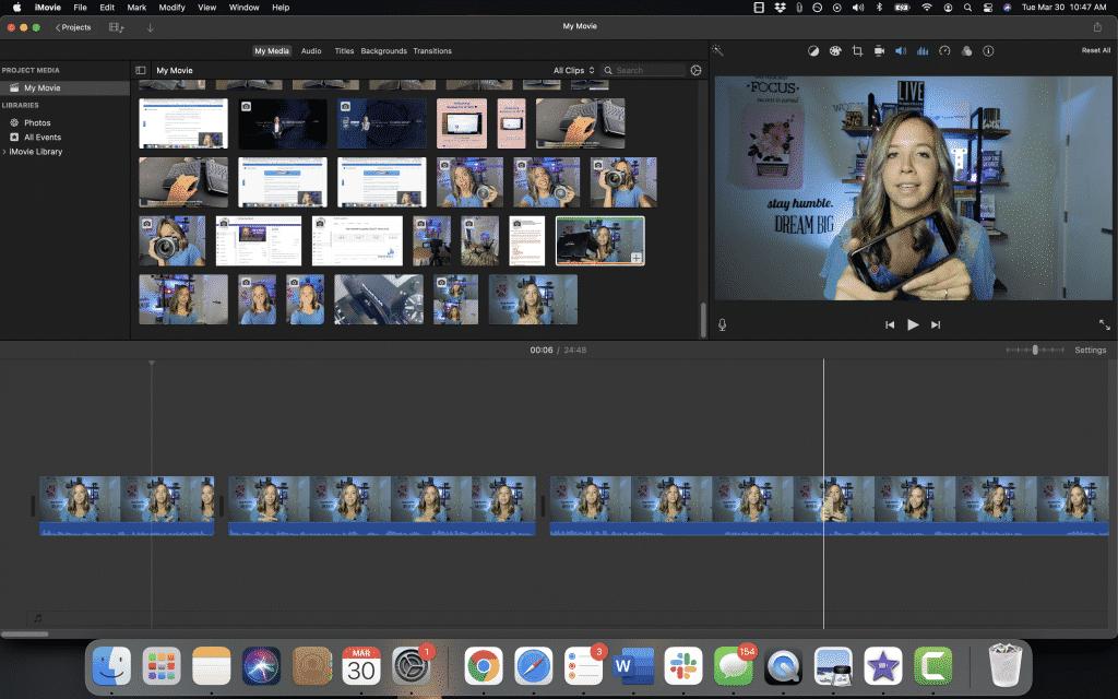 editing youtube videos in imovie